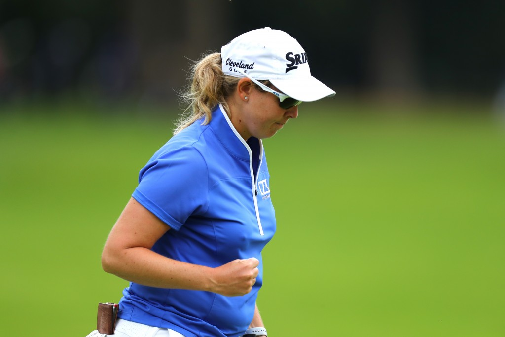 South African Ashleigh Buhai, first round leader of the AIG Women's British Open at Woburn.