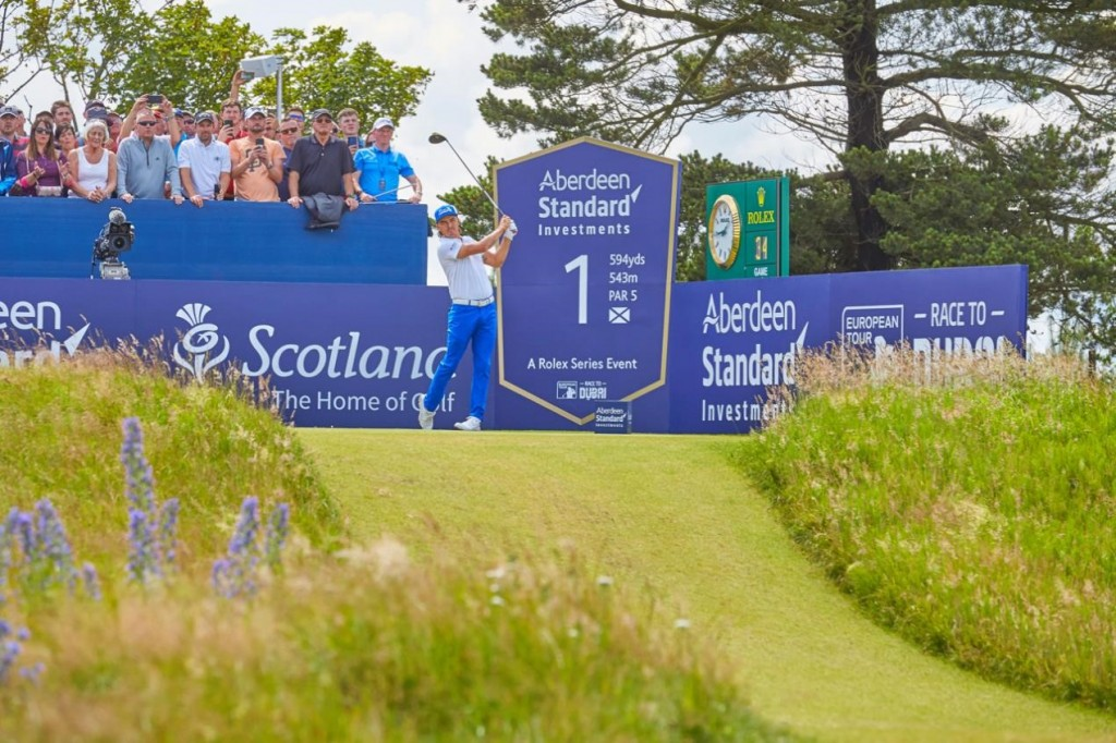 Rickie Fowler during the Aberdeen Standard Investments Scottish Open. Image credit Paul Severn
