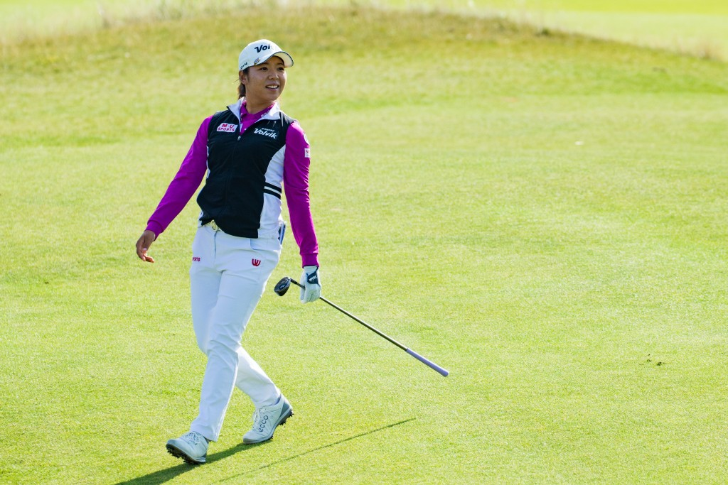 Korea's Mi Hyang Lee in the first round of the 2019 Ladies Scottish Open