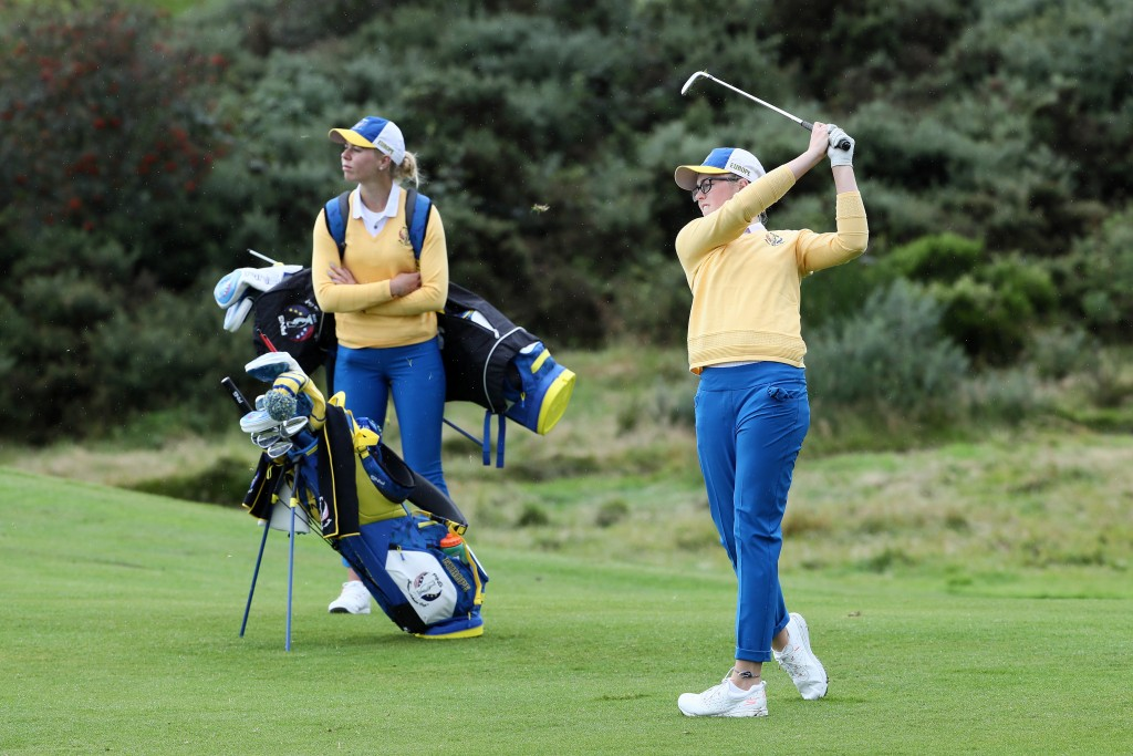 Scotland's Hannah Darling during practice fo the 2019 Ping Junior Solheim Cup at Gleneagles