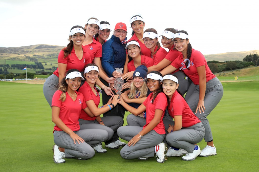 Team USA the 2019 Ping Junior Solheim Cup winners at Gleneagles