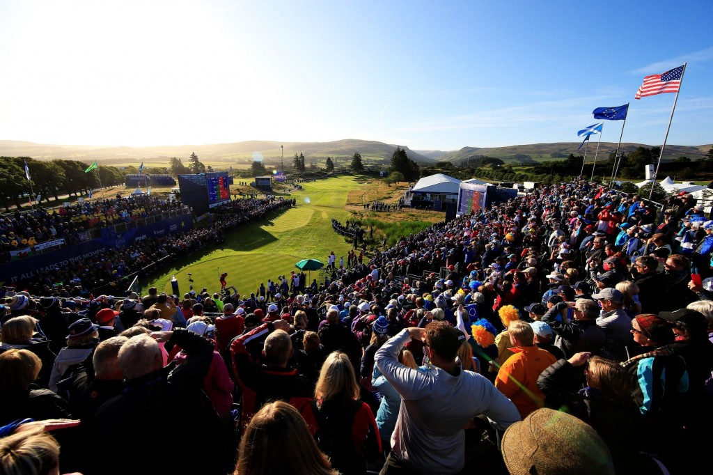 Packed crowds gather at Gleneagles for the opening day of the Solheim Cup 2019. Image credit: Getty Images