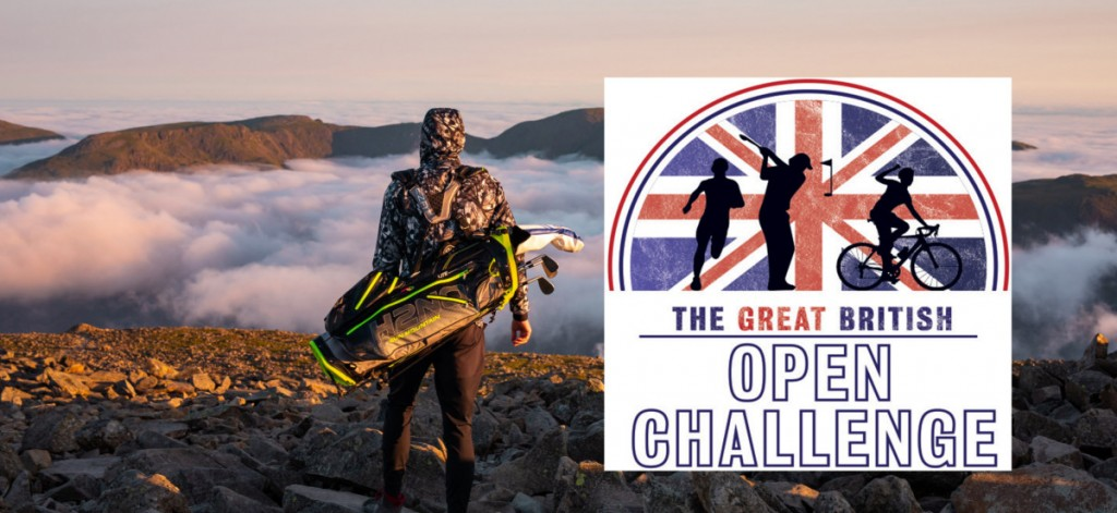 Iron Golfer Luke Willett who is undertaking the Great British Open Challenge to play every course that his hosted The Open, cycling from course to course