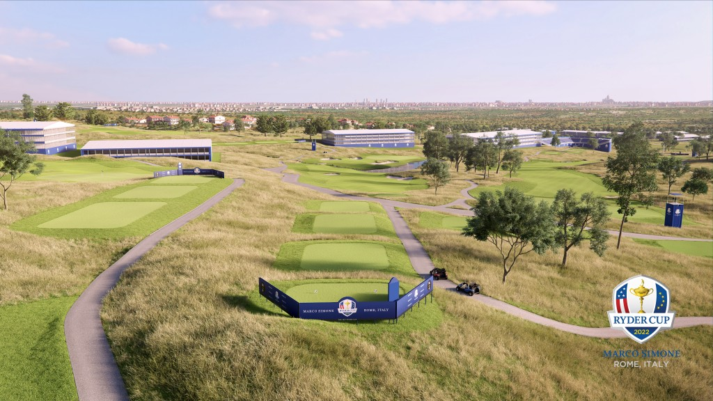 European Golf Designs and Tom Fazio II have been working on creating a world-class golf course at Marco Simone assisted by the Italian Golf Federation. Pictures by EUROPEAN TOUR