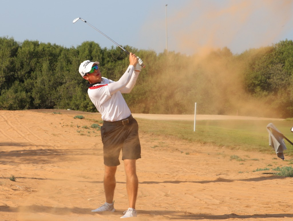 Sweden's Niclas Weiland in the second round of the 2019 Ras Al Khaimah Open