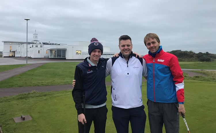 Iron Golfer Luke Willett at Royal Birkdale in his Great British Open Challenge