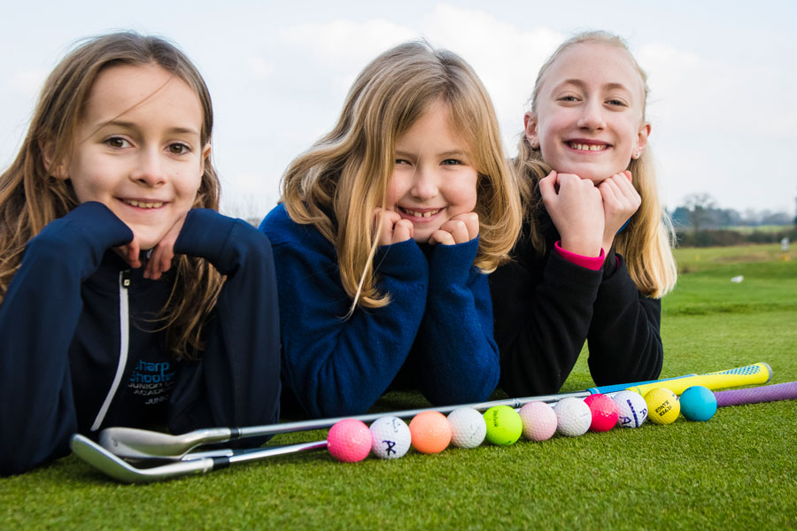 youngsters from Essex who have taken part in Girls Golf Rocks