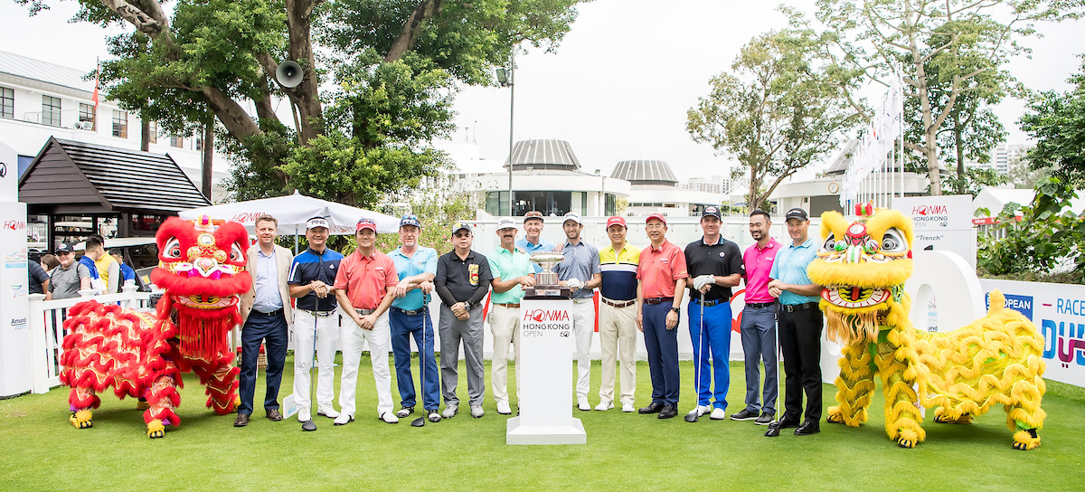 The teeing-off Ceremony at the 2018 Honma Hong Kong Open
