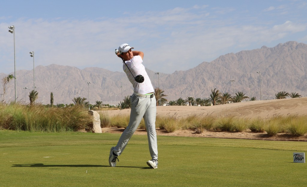 ENGLAND junior international Josh Hill, who is based in Dubai, playing in the 2019 MENA Tour Championship