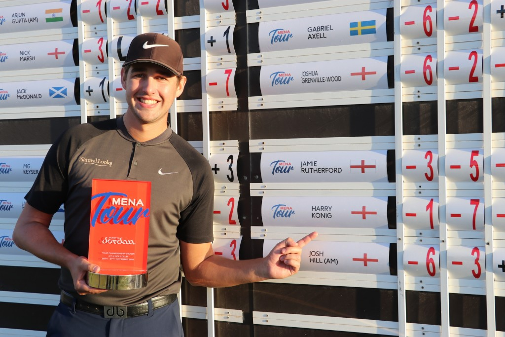2019 MENA Tour Journey to Jordan Tour Championship winner Harry Konig