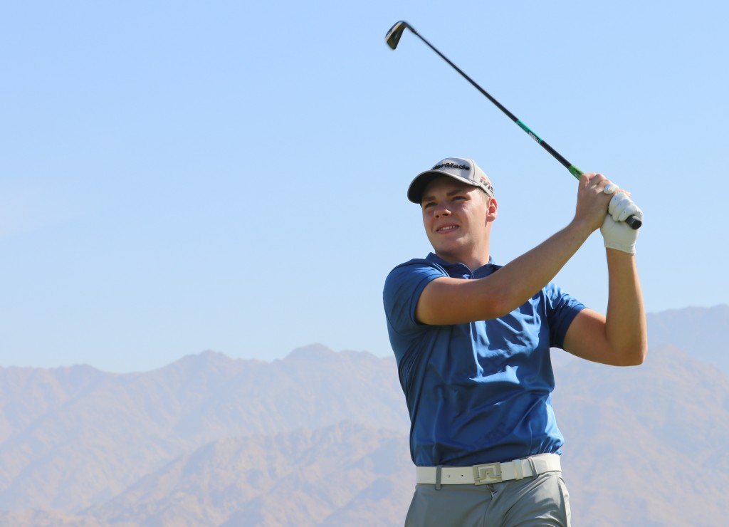 bridge's Curtis Knipes is aiming to repeat James Allan's MENA Tour's Amateur Order of Merit wins to earn a place at the Dubai Desert Classic, in January. Picture by MENA TOUR