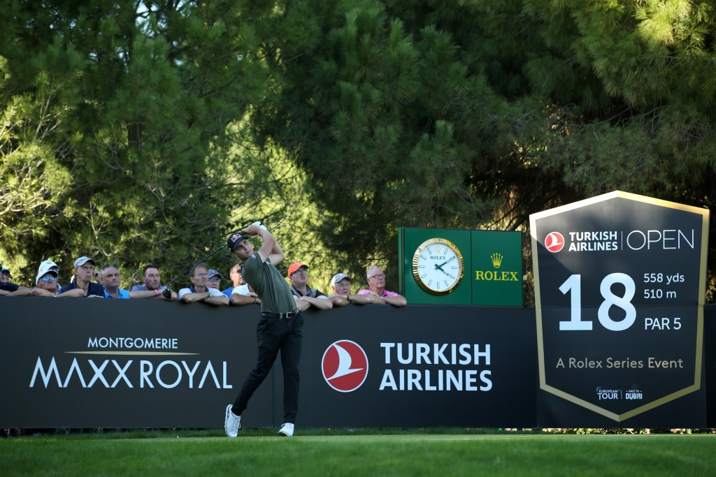 AUSTRIA'S Matthias Schwab in the first round of the 2019 Turkish Airlines Open