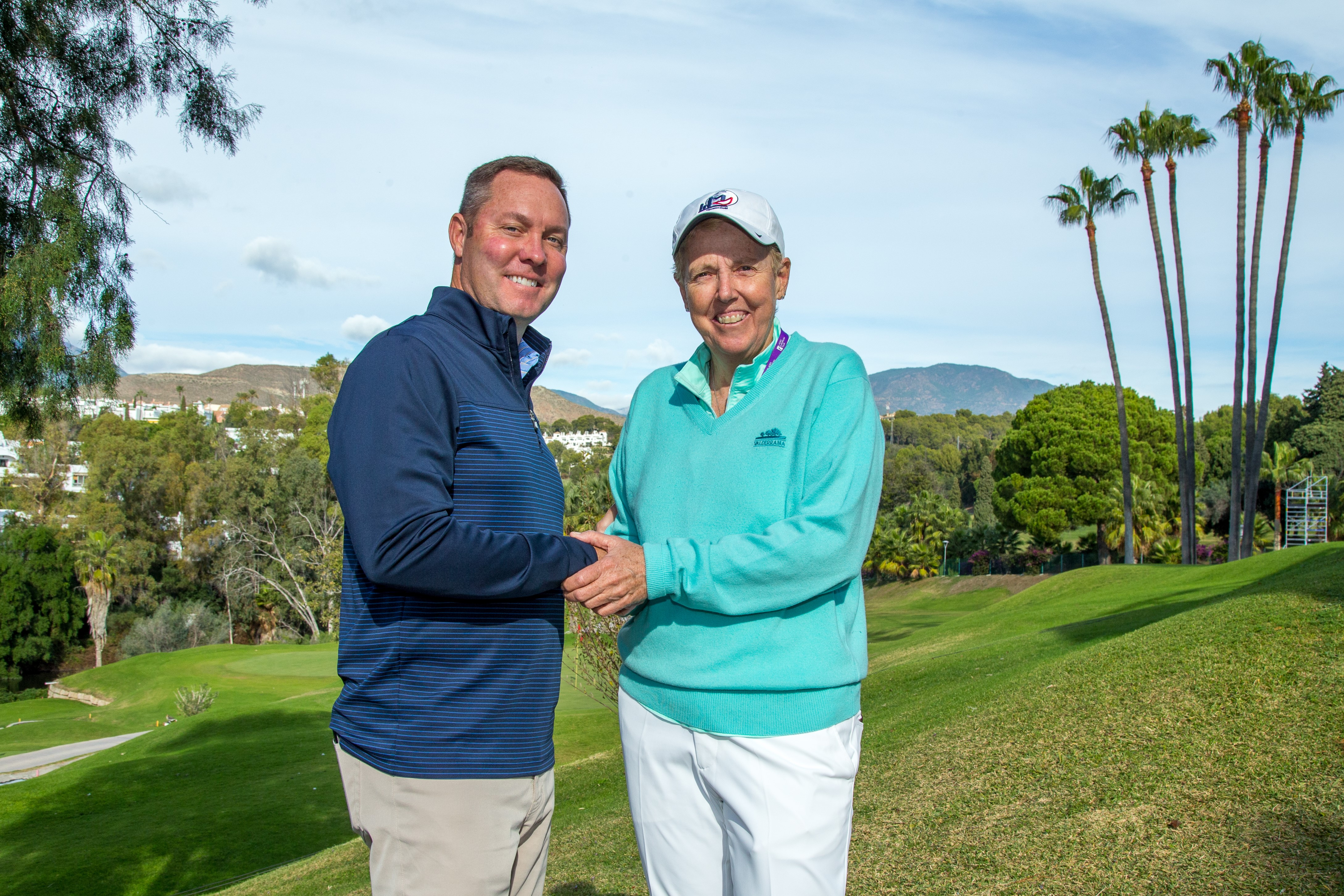 LPGA commissioner Mike Wha and LET chairwoman Marta Figueras Dotti