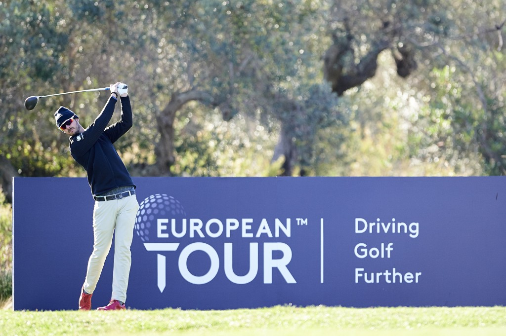 Benjamin Poke playing the fifth round of the 2019 European Tour Qualifying School