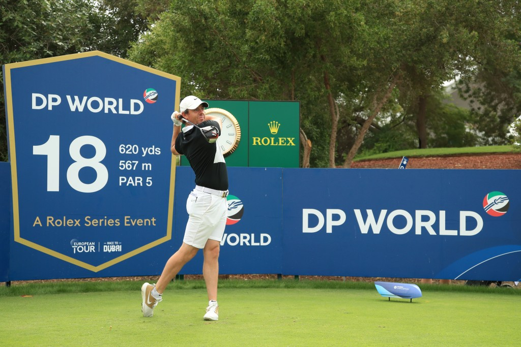 Rory McIlroy in practice at the 2019 DP World Tour Championship, Dubai