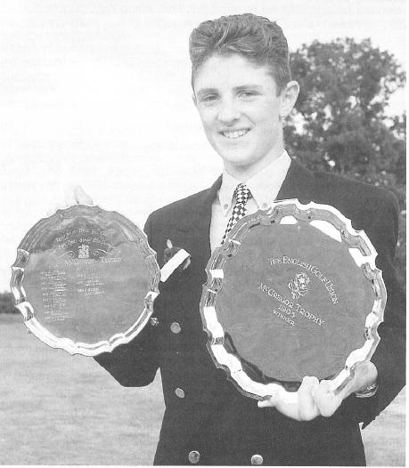 1995 McGregor Trophy winner Justin Rose