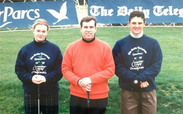 Justin Rose (right) at the 1997 Daily Telegraph Junior Championship