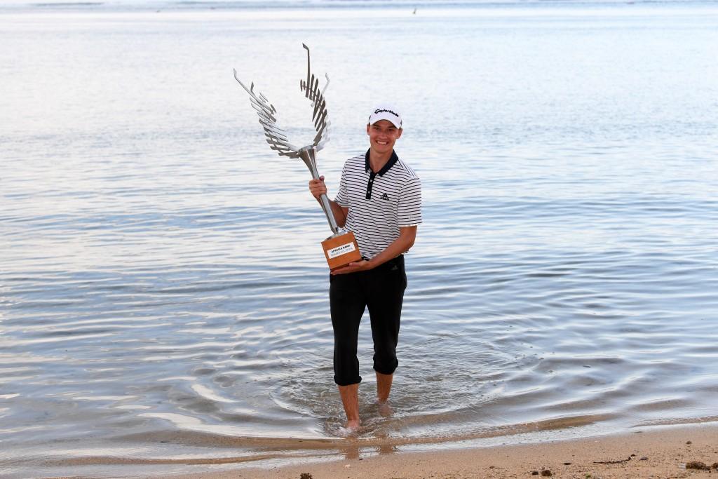 2019 AfrAsia Bank Mauritius Open winner Rasmus Højgaard – third youngest winner in European Tour history