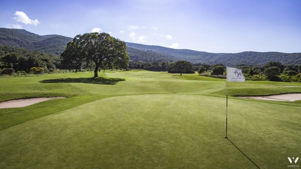 Hole 13, the Signature Hole, of Argentario Golf Course