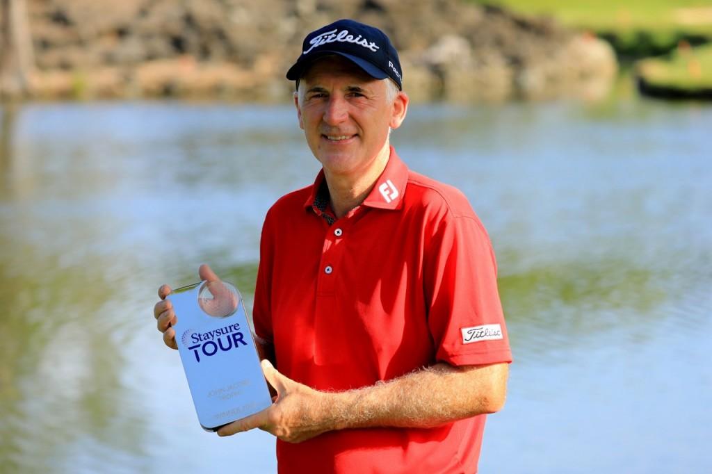 2019 Staysure Order of Merit winner Phillip Price with the John Jacobs Trophy