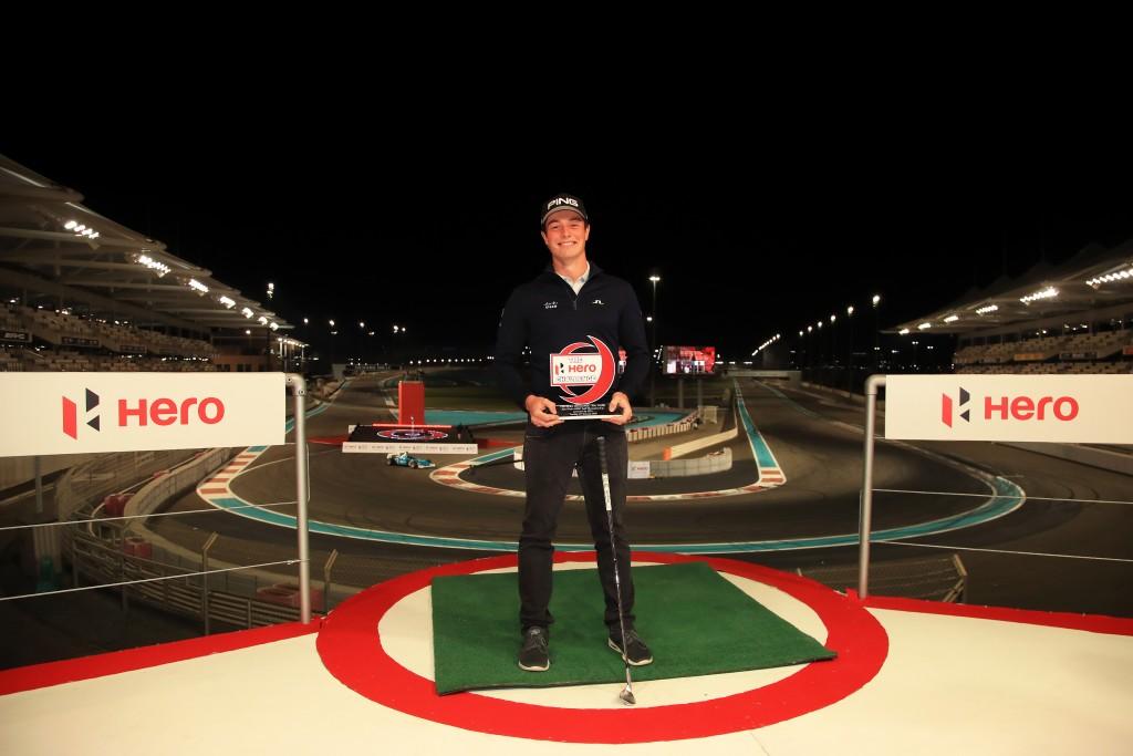 Abu Dhabi Hero Challenge winner Viktor Hovland
