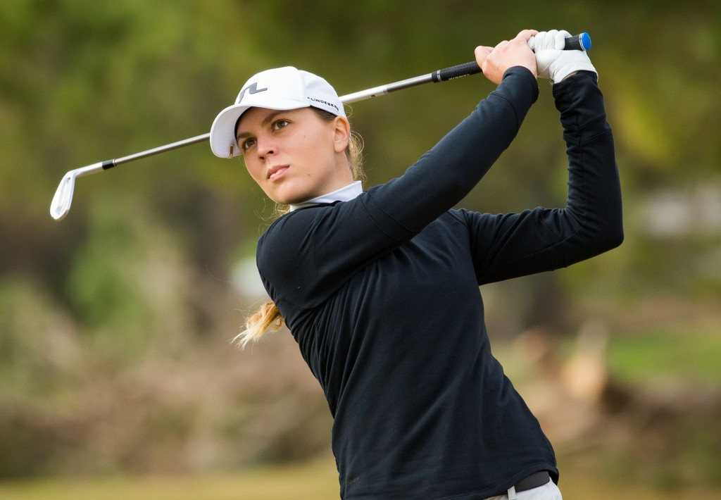 Switzerland's Morgane Metraux in the first round of 2020 LET Qualifying School