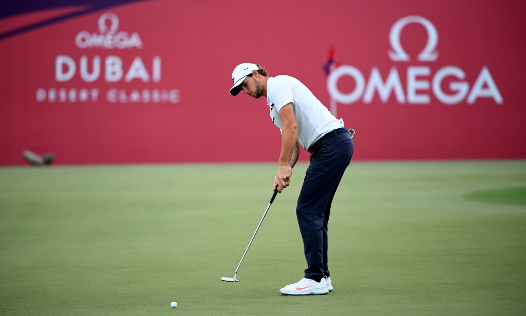 THOMAS PIETERS in the first round of the 2020 Omega Dubai Desert Classic
