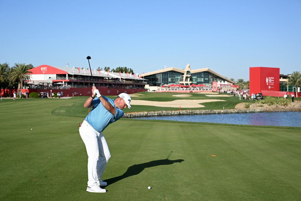 LEE WESTWOOD IN THE THIRD ROUND OF THE 2020 ABU DHABI HSBC CHAMPIONSHIP LOOKING FOR A SECOND ROLEX SERIES WIN