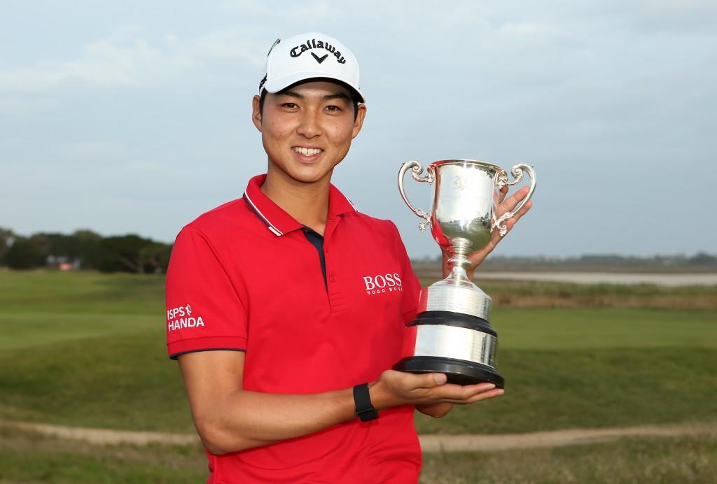 2020 ISPS Handa Vic Open winner Min Woo Lee at 13th Beach Golf Links