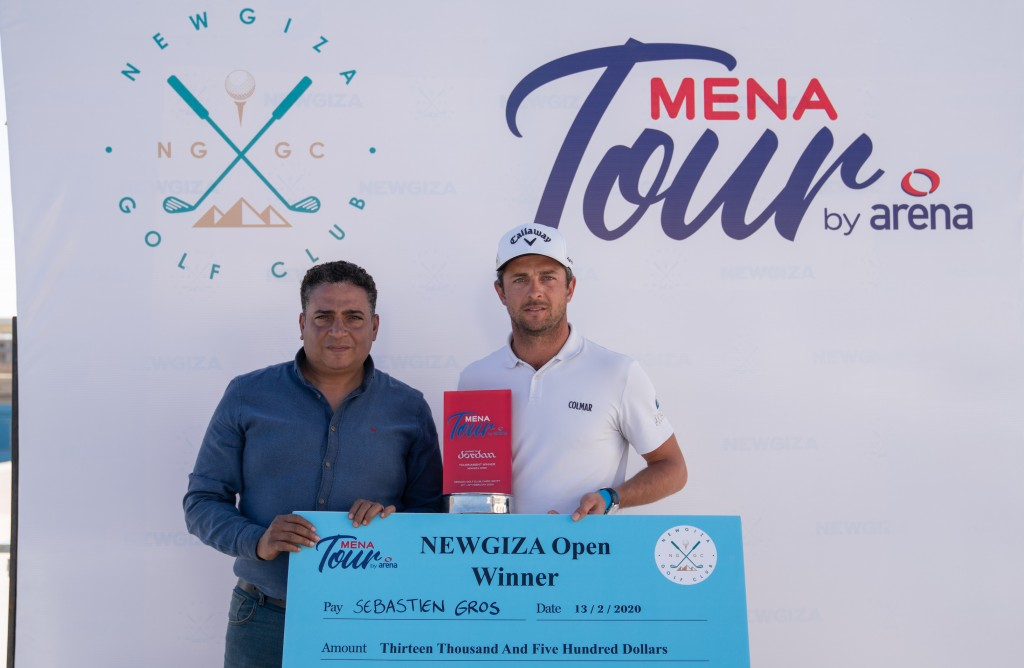2020 NewGiza Open winner Sebastien Gros (right) who finished two shots better than David Hague, from Malton and Norton Golf Club