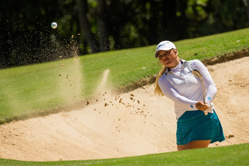Lauren Stephenson first round leader of the 2020 Australian Ladies Classic at Bonville Golf Resort
