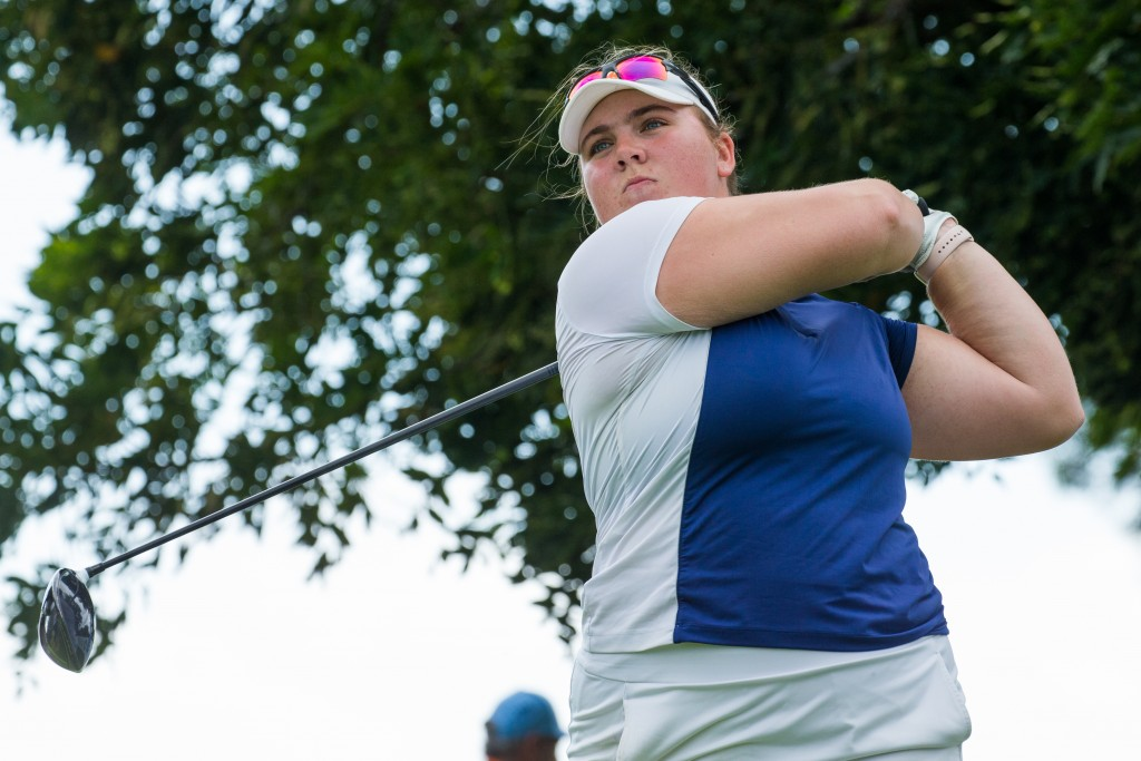 14/03/2020. Ladies European Tour 2020. Investec South African Women's Open. Westlake Golf Club, Westlake,  Cape Town, South Africa. Mar12-14 2020 Alice Hewson of England during the second round. Credit: Tristan Jones