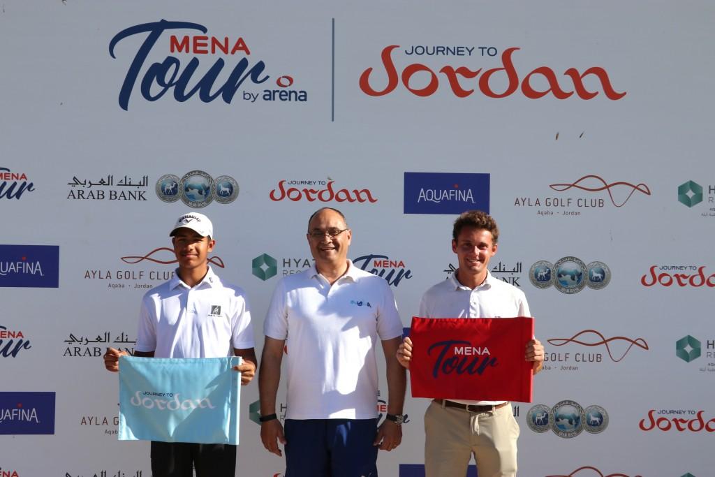 Journey to Jordan No. 2 winner Ryan Lumsden (right) from Surrey's Royal Wimbledon Golf Club