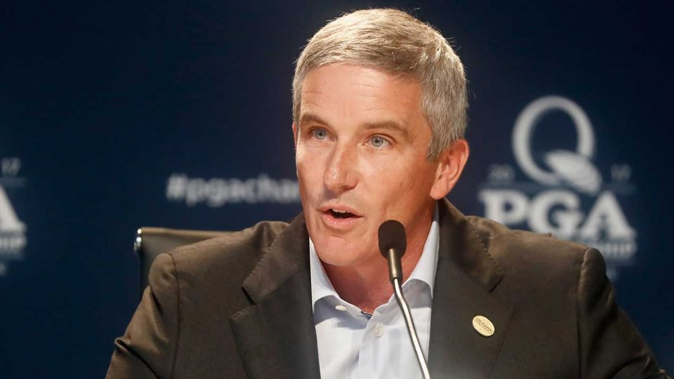 PGA Tour commissioner Jay Monaghan who cancelled The Players Championship after the first round had been completed on Thursday March 12, 2020
