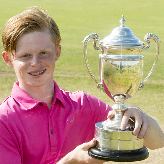 2016 Carris Trophy winner Angus Flanagan from Surrey's St George's Hill Golf Club
