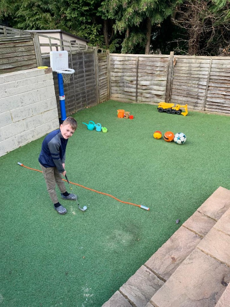 The Golf Foundation's Golf at Home programme aims to make practice during the lockdown fun