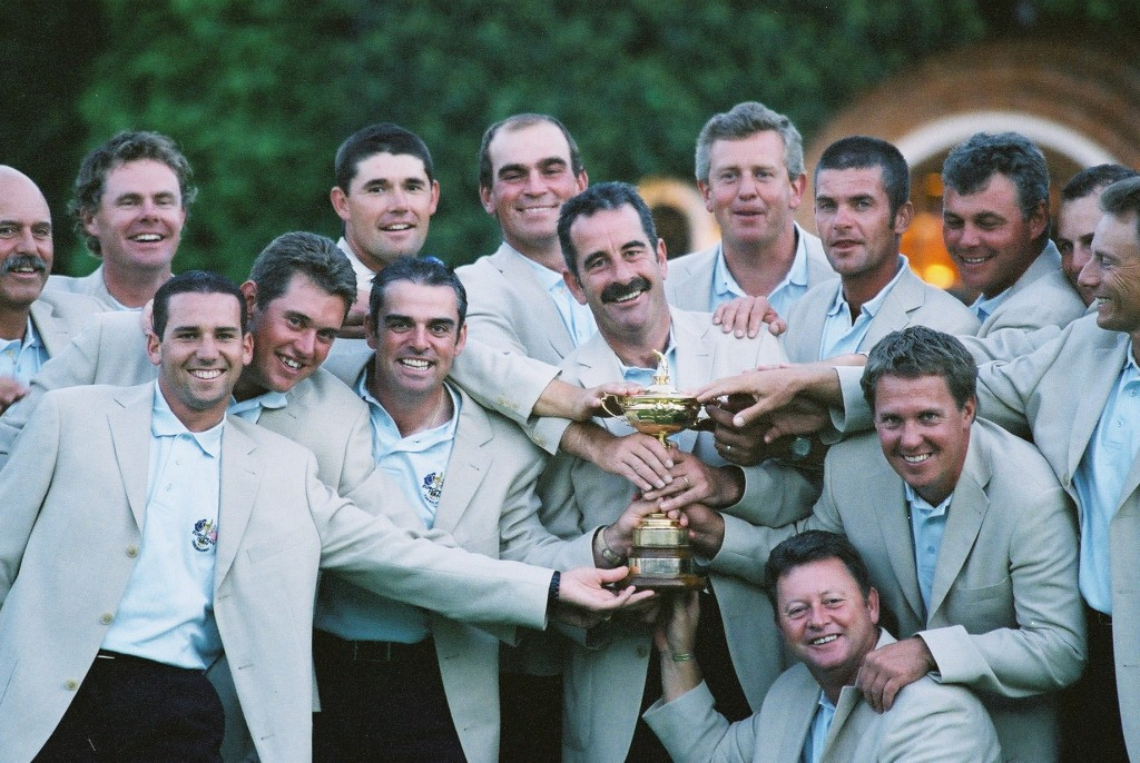Europe's winning Ryder Cup team at The Belfry in 2002, captained by Sam Torrance