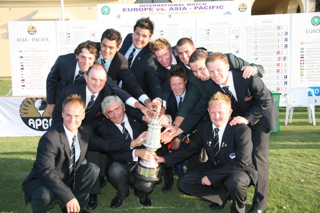 Danny Willett in the European team that won the Michael Bonallack Trophy in 2008 at Valderrama