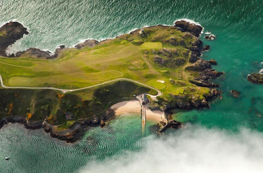 The spectacular back nine on Nefyn's Old Course in North Wales