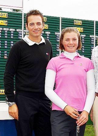HSBC Wee Wonders finalist Alice Hewson with Nick Dougherty