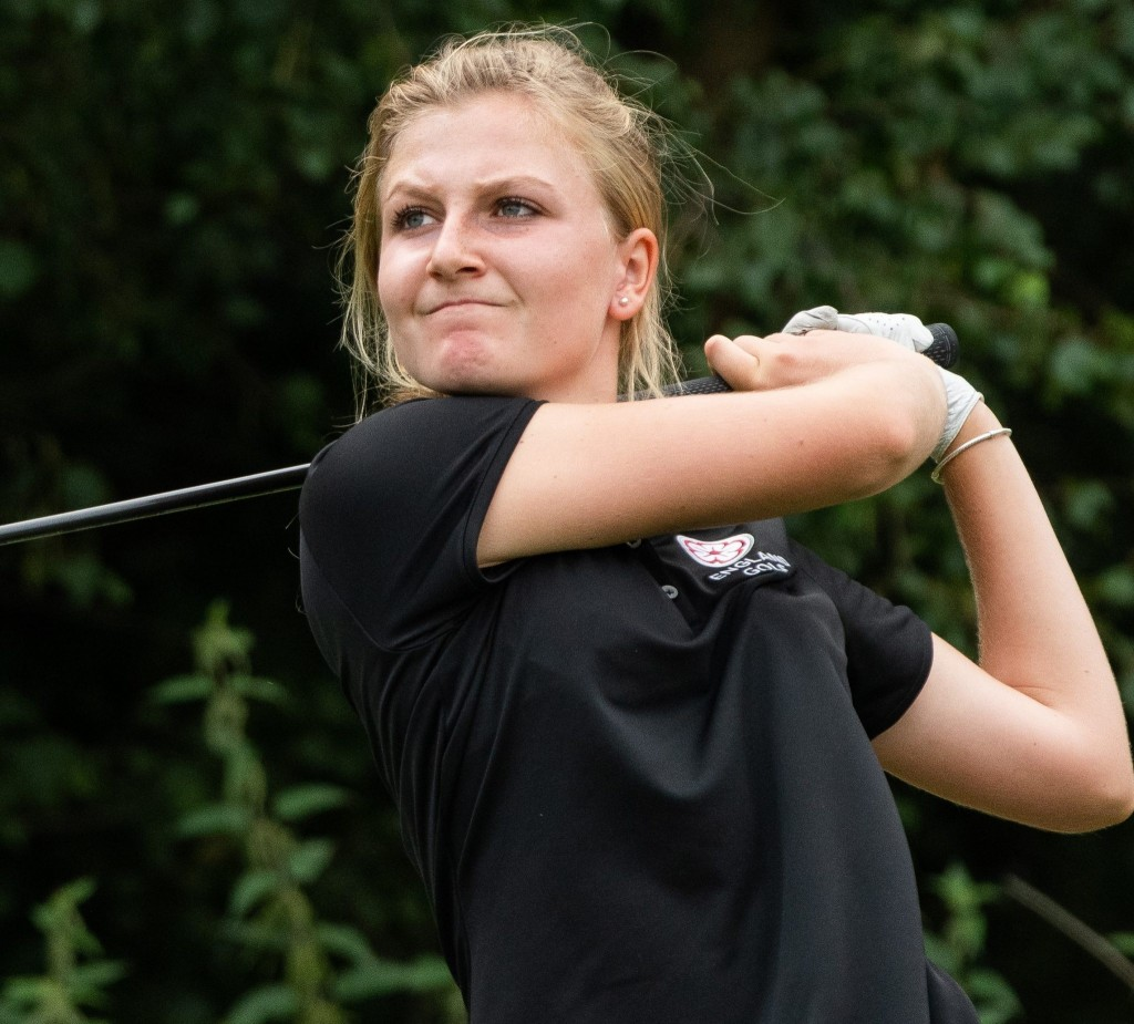 Ellie Gower was eighth behind Gemma Dryburgh in the Rose Ladies Series third event at Buckinghamshire Golf Club