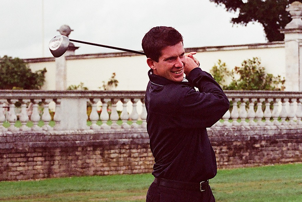 Tim Henman playing in a Sparks charity golf day at Stoke Park