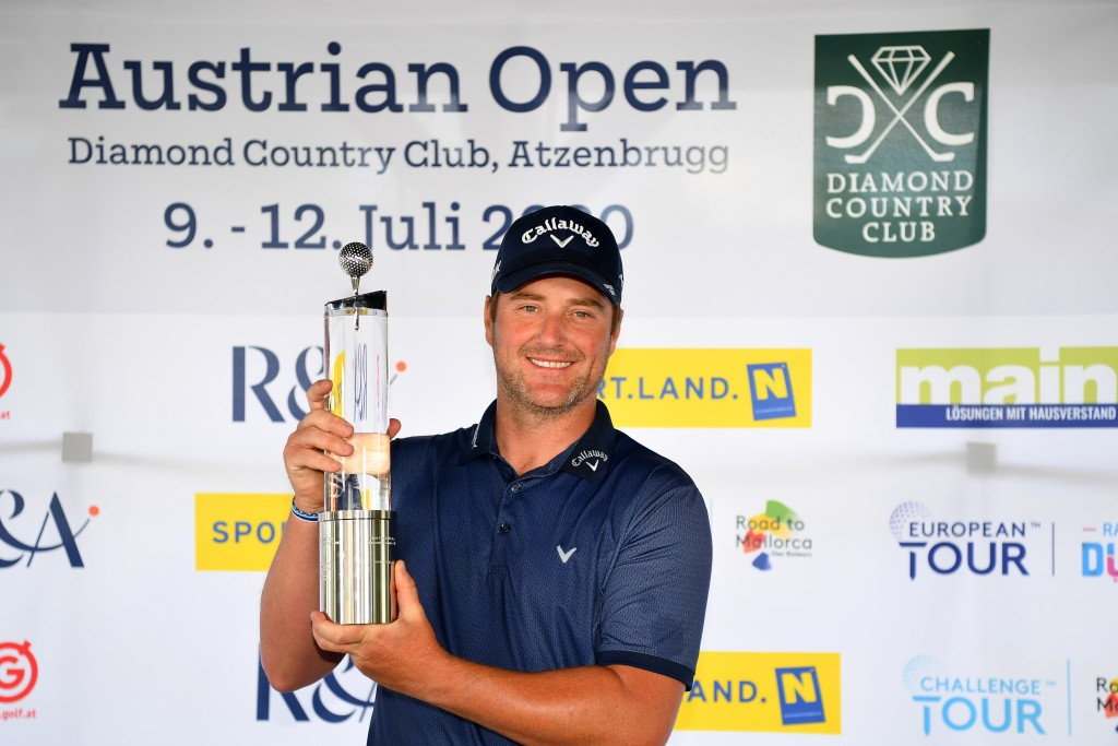 Marc Warren winner of the 2020 Austrian Open at Diamon Country Club