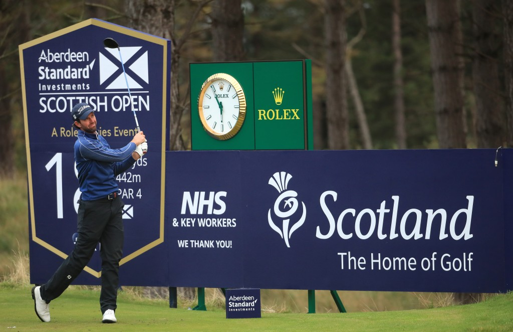 Scott Jamieson in the first round of the 2020 Aberdeen Standard Investments Scottish Open at The Renaissance Club in North Berwick