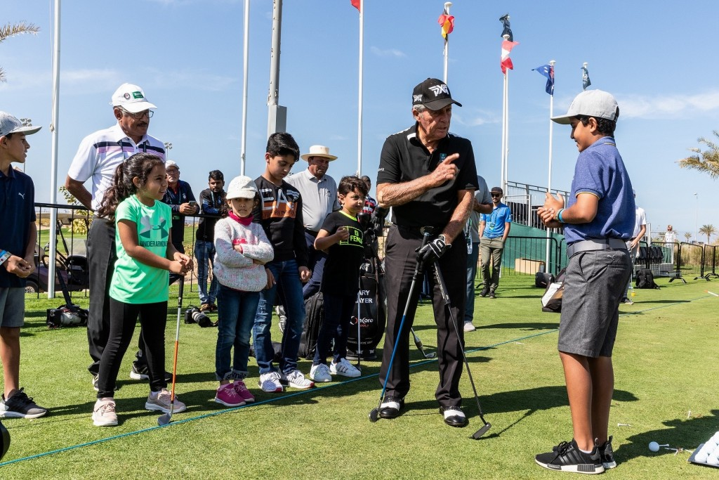 Gary Player Hosts Golf Clinic At 2020 Saudi International powered by SoftBank Investment Advisers